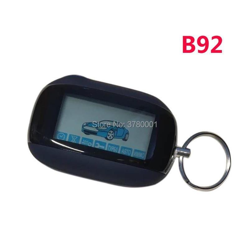 B92 LCD télécommande porte-clés Fob pour deux voies russe StarLine B92 système d'alarme de voiture