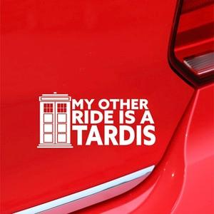 Image 2 - Moja druga jazda to Tardis winylowa tablica naścienna kask motocyklowy osobowość kreatywność jdm okno naklejka akcesoria samochodowe naklejki samochodowe
