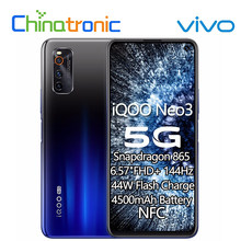 VIVO Neo 3 iQOO Neo 3 6GB 128GB 5G teléfono móvil Snapdragon 865 Octa Core 6,57
