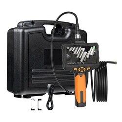 4.5Inch Industrial Endoscope Borescope 14.5mm Mini Lens Auto Focus Inspection Camera with 3M Semi-Rigid Tube LED Light