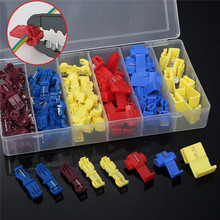 96Pcs Insulated 0.5-6mm Quick Splice Wire Connector Crimp Terminals 22-10 AWG Kit Cable Connectors Terminal Kit 20pcs wire terminals quick wiring connector cable clamp awg 22 18