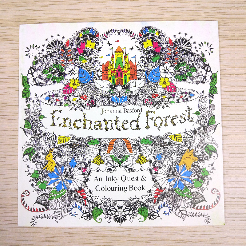 24 Page coloring book Enchanted Forest kids books Antistress Adult Coloring Books For adults Livre drawing/colouring Book