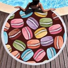 2019 New Summer Leaf Round Beach Towel with Tassels Covers Bath Towels Picnic Yoga Mat Travel Toalla De Playa 150x150CM