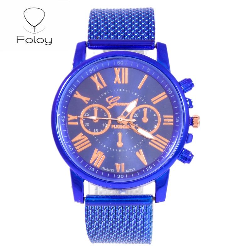 Foloy GEW-05 Quality Fashion Women Watches Faux Leather Analog Quartz Digital Ladies Watch Bracelet Clock Gift