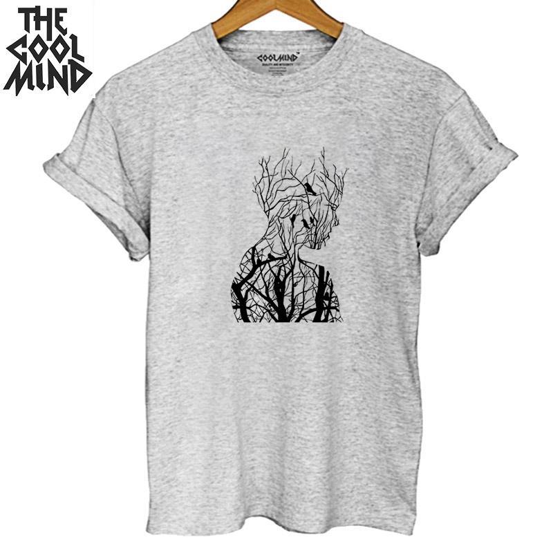 COOLMIND Loose O-neck 100% Cotton Men T Shirt Casual Short Sleeve Men Tshirt Summer Male T-shirt Men Tee Shirt