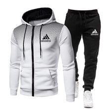 2020 agasalho roupas masculinas duas peças conjunto jaqueta + calça chandal hombre marca trilha terno moletom com capuz conjuntos masculinos