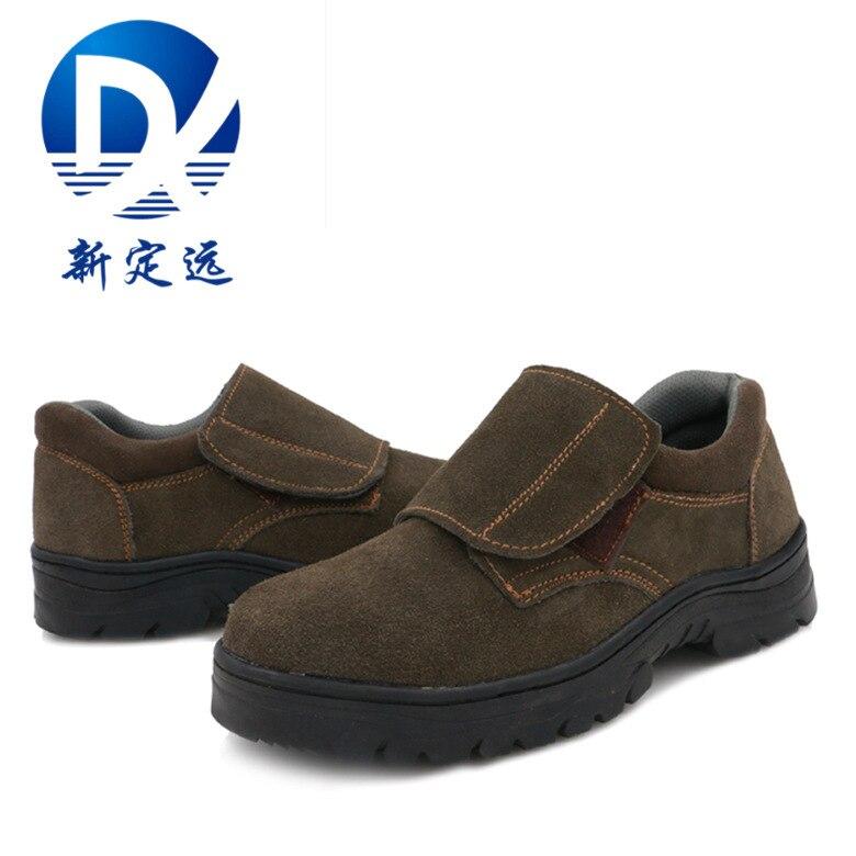 Shoe Factory Wholesale Safety Shoes Men's Put Puncture Large Covered Fire Flower Welding Shoes Welder Heat Resistant Safe Protec