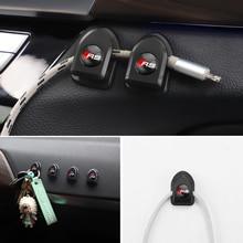 2Pcs Self Adhesive Car Mini Storage Hooks For Audi A1 A3 A4 A5 A6 A7 A8 Q2 Q3 Q5 Q7 TT