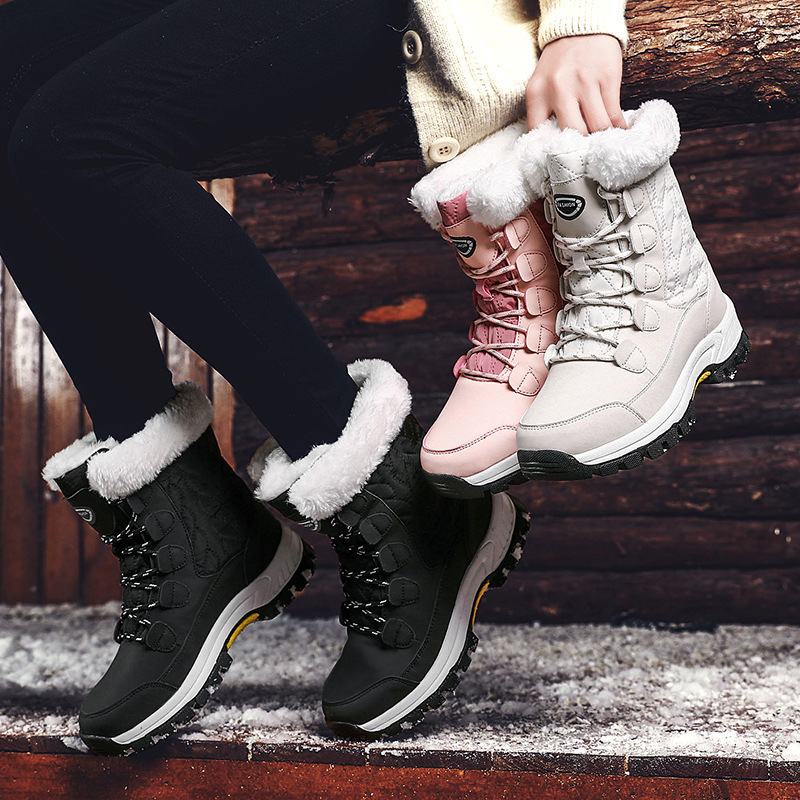 KAMUCC New Women Boots Women's Winter Boots Shoes Woman Snow Boots Women's Boots Winter Boots for Women Winter Shoes Ankle Boots 46
