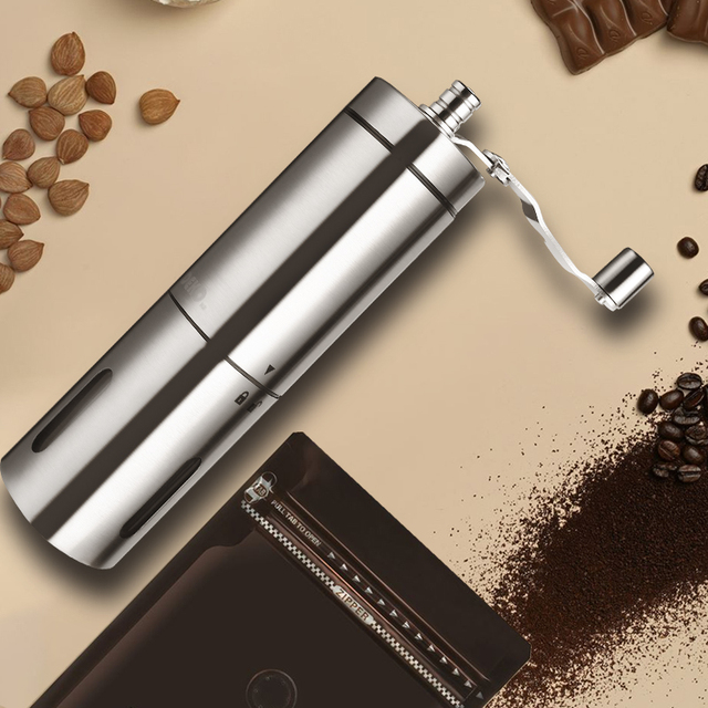 DEKO Hand Manual Coffee Portable Grinder Adjustable Ceramic Coffee Bean Mill Stainless Steel Kitchen Mills Tools 2