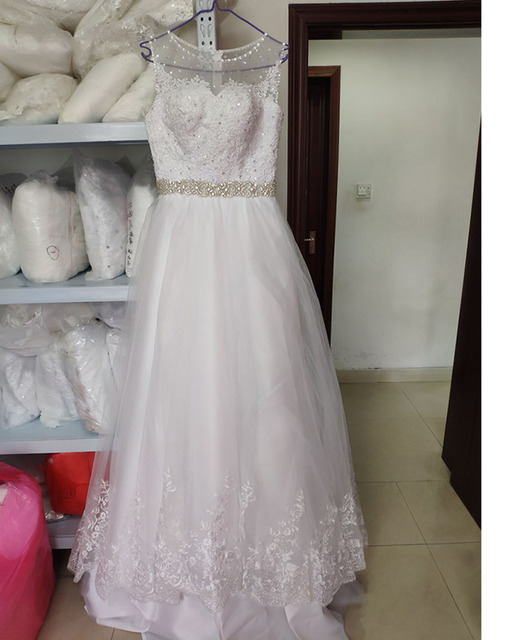 Wedding Dress For Women With Lace A-line Floor Length Prom Gowns Plus Size For Bride Dresses
