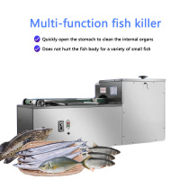 Commercial killing fish machine(open the belly/remove the viscera/no remove fish scale) XZ 13 vertical automatic Kill fish maker