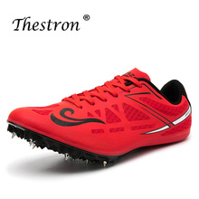 Big Boy Spike Running Shoes Mesh Track And Field Shoes Blue Red Black Sneakers Men Spikes Luxury Brand Girls Athletics Shoes отсутствует track and field athletics легкая атлетика учебное пособие
