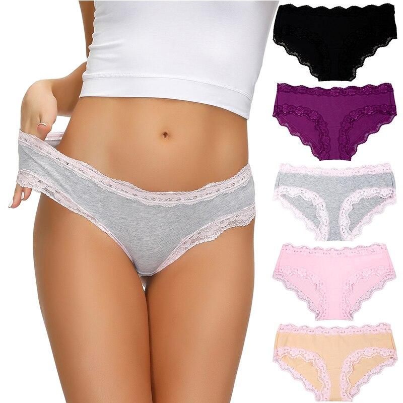 Комплект женского нижнего белья из трусов, 5 шт./лот, Хлопковые женские трусы, мягкие удобные сексуальные трусы, однотонное женское нижнее белье, трусы|Женские трусики| | АлиЭкспресс