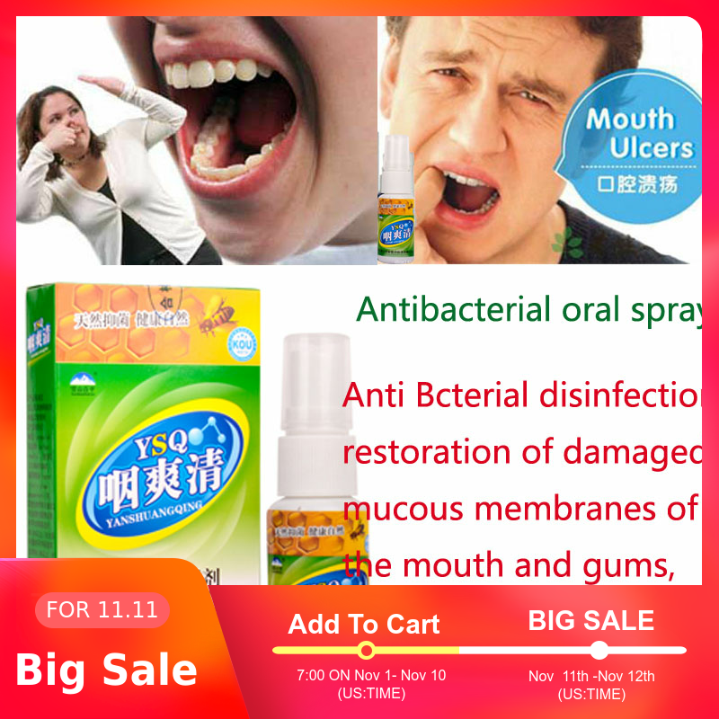 Antibacterial Oral Spray Hygiene Oral Care Fresh Mouth Fresh Breath Cure Mouth Ulcers Clean Mouth