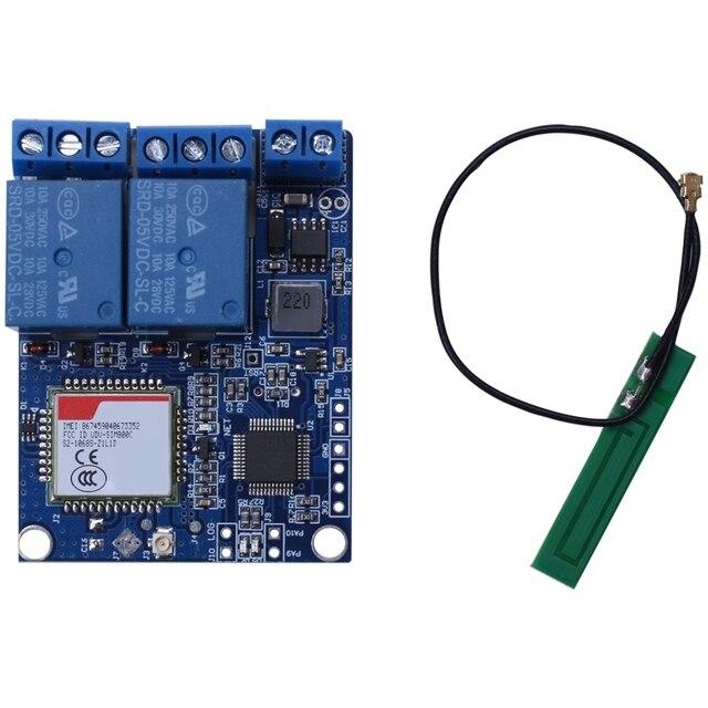 Tin Nhắn Sms Gsm Công Tắc Điều Khiển Từ Xa Sim800C Stm32F103C8T6 Module Relay 2 Kênh Cho Nhà Kính Máy Bơm Oxy