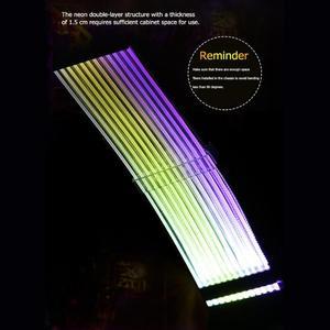 Image 2 - כוח RGB PSU קו 24Pin ניאון קו כוח RGB PSU קו מחשב לוח האם כוח הארכת מתאם כבל עבור E ATX/ATX/מיקרו ATX