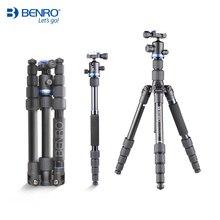 Benro IF19 trépied Aluminium Portable trépieds de voyage pour caméra monopode réflexe 5 Section sac de transport chargement Max 8kg DHL gratuit
