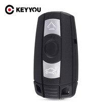 KEYYOU 10x pilot 3 przycisk kluczyk Cas Shell pokrywa Fob dla BMW 1 3 5 6 seria E90 E91 E92 E60 z scyzoryk nóż