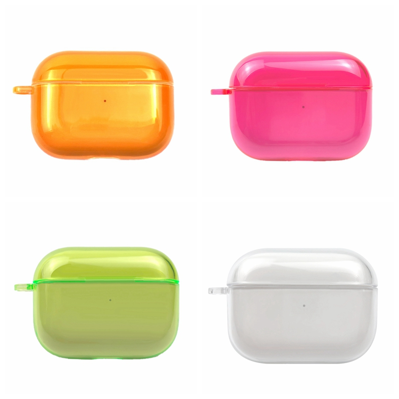 Protective Earphone Cases For Apple Airpods 3 Generation Transparent Colorful Headphone Cover For AirPods Pro Clear Sleeve Pouch