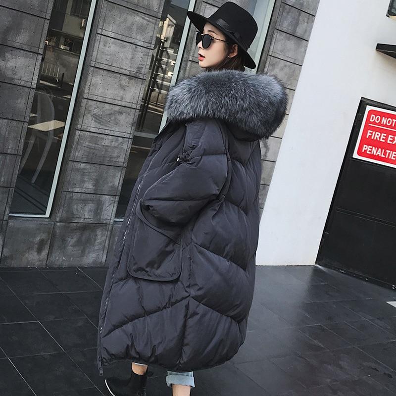 Winter Outwear Women Duck Down Warm Jacket In Hooded Fashion Cocoon Parkas Plus Size White Duck Down  Womens Down Jackets Brands