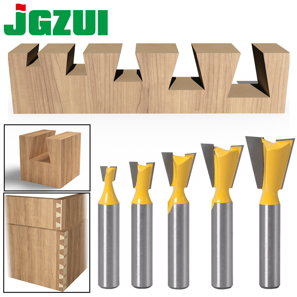 5pcs 8mm Shank Dovetail Joint Router Bits Set 14 Degree Woodworking Engraving Bit Milling Cutter for Wood|Milling Cutter|   - AliExpress