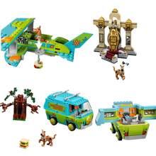 Em estoque novo scooby doo o mistério máquina lepining bloco de construção brinquedos conjunto tijolos educativos para crianças