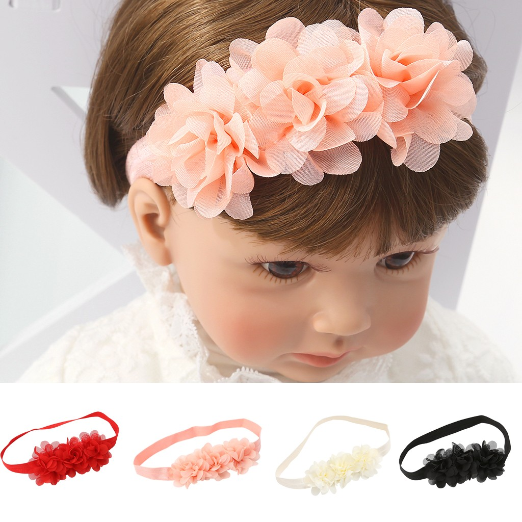 Baby Headband Beauty Cute Sweet Kids Girl Baby Headband Flower Elasticband Hair Band Baby Hair Accessories Diademas Para Bebes