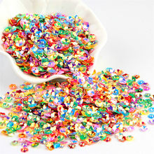 3D Flower Sequin 6mm Loose PVC Cup Plum Blossom Paillettes Lentejuelas DIY Sewing Craft Accessories for Costume Jewelry 20g/lot(China)