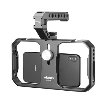 Ulanzi U-Rig II Photography Smartphone Handheld Stabilizer Metal Grip Video Rig Grip Tripod Mount for iPhone Android Smartphone