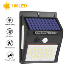 100 LED Solar Light Outdoor Solar Lamp PIR Motion Sensor Wall Light Waterproof Solar Powered Sunlight Garden Light