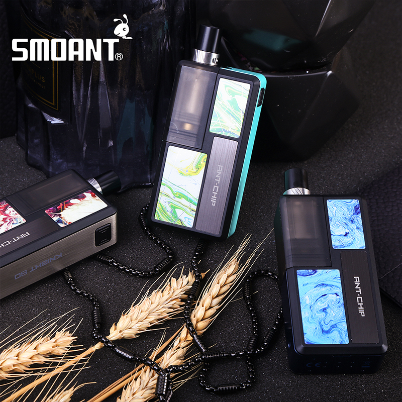 2020 New Original Smoant Knight 80 RBA Pod Mod Kit 18650 Battery 4.0ml Pod E-Cigarette Vape Kit Mesh RBA Coil