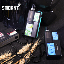 2020 neue Original Smoant Ritter 80 RBA Pod Mod Kit 18650 Batterie 4,0 ml Pod E Zigarette Vape Kit mesh RBA Spule