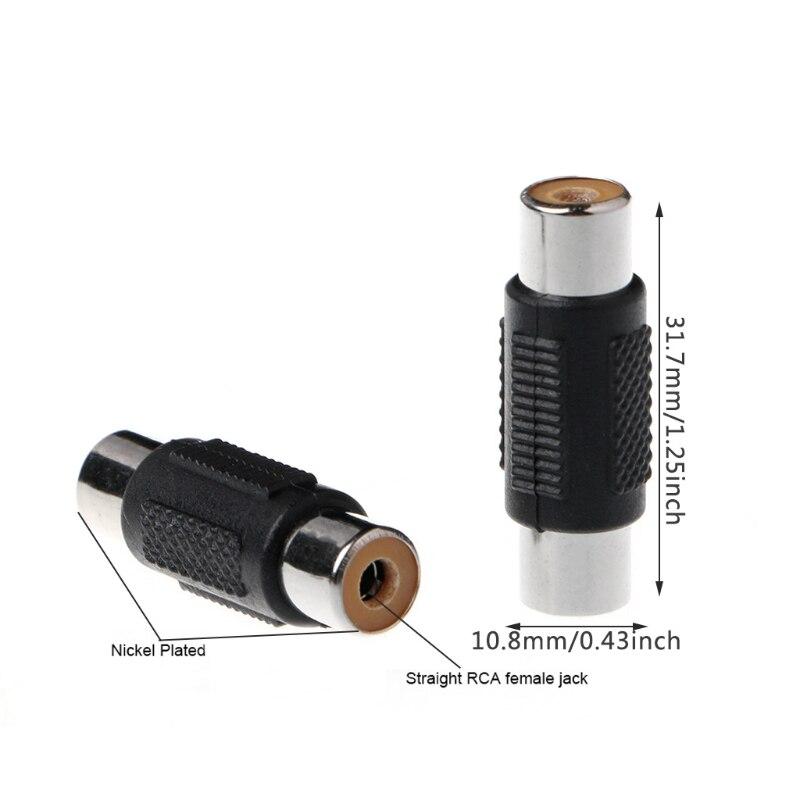 Купить 5 шт rca женский к аудио видео кабель разъем адаптера