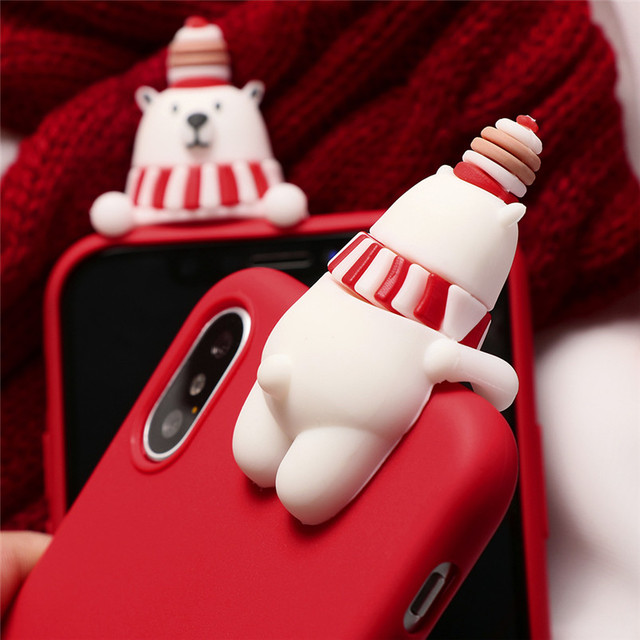 Christmas Cartoon Cute Animals Case For iPhone XR Back Cover For iPhone 11 Pro X XS Max 10 6 S 6S 7 8 Plus 5 5S SE Soft TPU Case