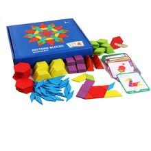 Children's Puzzle Set Colorful Baby Education Wooden Toys Children Learning Development Toys 155 Blocks цена 2017