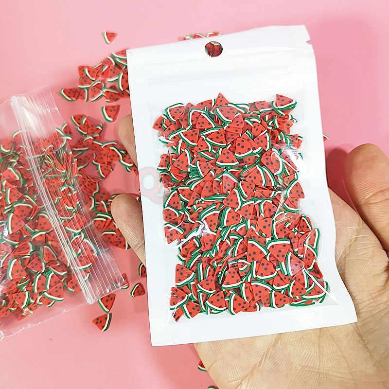 10 g/pacco Fimo Fette di Frutta Decorazione Additivi Per Slime di Riempimento Forniture Pendenti E Ciondoli Accessori in Argilla di Avocado Fimo Per Unghie Artistiche Melma Giocattolo