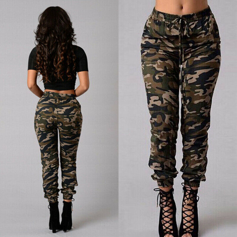 2019 Newest Fashion Women Military Army Style Pocket Leggings Camouflage Camo Casual Hot Sale Pants