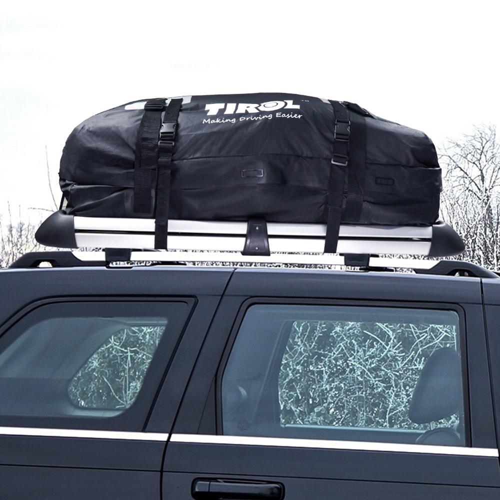 Su geçirmez araba çatı bagaj Oxford kumaş çatı bagaj çantası kargo taşıyıcı bagaj depolama evrensel seyahat çantası SUV Van arabalar için