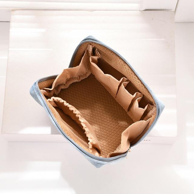 Фото бархатный органайзер для макияжа doozeepa мягкая сумка помады