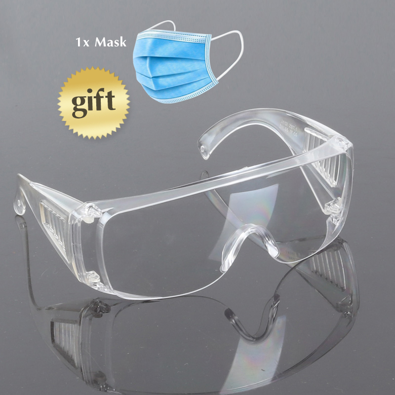 Professional PC Lens Impact Resistance Anti-fog Eye Protection Glasses Anti-impact Protective Goggles 8-0034