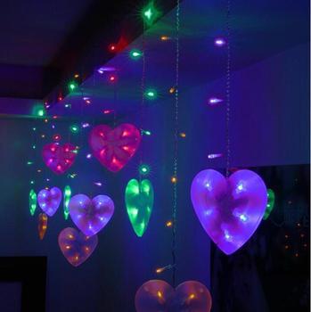 Festival light 2m 10Led Led lights string battery box string lights decoration lightsheart curtain