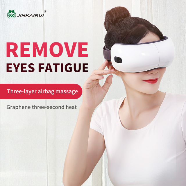 Jinkairui Eye Massager Electric Portable USB Rechargeable Adjustable Pressure Eye Protection with Heating Air Pressure Music 1