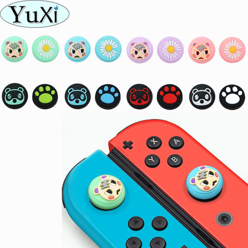 YuXi Kucing Paw Claw Animal Crossing Thumb Stick Grip Tutup Joystick Cover untuk Nintend Switch Lite Joy-Con Controller kasus