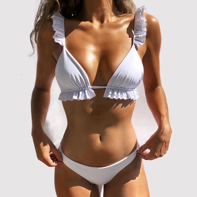 Women Bikini Set Push Up Swimming Suit Solid Swimwear Women Sexy Bikinis 2020 Mujer Biquinis Feminino Swimsuit Women