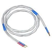 Paar 7N OCC kupfer versilbert lautsprecher kabel  hifi lautsprecher draht mit banana stecker stecker