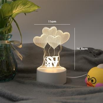 цена Creative 3D LED Night Lights Novelty Illusion Night Lamp 3D Illusion Table Lamp Home Decor Light Christmas Novelty Holiday Gifts онлайн в 2017 году