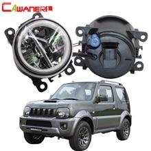 Cawanerl 2 X Автомобильный Стайлинг 1998 лм Светодиодная лампа H11 Противотуманные фары + ангельские глазки DRL 12 В для Suzuki Jimny FJ закрытый внедорожник 2014