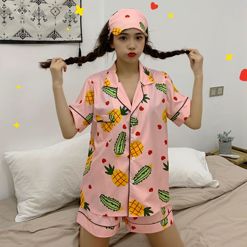 Women's sleepwear women's 2019 summer New style Korean-style short sleeved thin spring and autumn loose tracksuit set two-piece