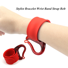 Pro Salon Stylist Armband Wrist Band Strap Riem Rubber Band Opslag Kapper Kappers Styling Tools Haaraccessoires G1114